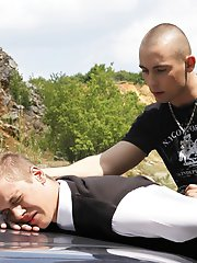 Abused: Blond Schoolboy Humiliated And Fucked Wide Open Outdoors!